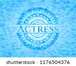 actress realistic sky blue... | Shutterstock .eps vector #1176504376