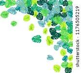 teal green tropical jungle...   Shutterstock .eps vector #1176505219