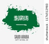 saudi arabia national day in... | Shutterstock .eps vector #1176512983