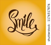 world smile day lettering | Shutterstock .eps vector #1176517876
