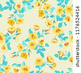 seamless ditsy pattern in small ... | Shutterstock . vector #1176524416