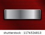 shiny steel plate on metal... | Shutterstock .eps vector #1176526813