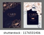 metallic wedding invitation ... | Shutterstock .eps vector #1176531406