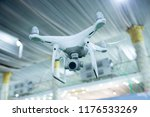 a closeup of a white drone... | Shutterstock . vector #1176533269
