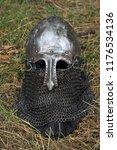 knight's helmet for historical... | Shutterstock . vector #1176534136