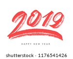 happy new year 2019. greeting... | Shutterstock .eps vector #1176541426