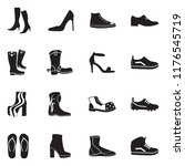 footwear icons. black flat... | Shutterstock .eps vector #1176545719