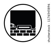 icon of plastered brick wall .... | Shutterstock .eps vector #1176545896