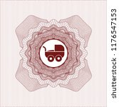 red linear rosette with baby...   Shutterstock .eps vector #1176547153