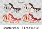 bacon rolls isolated on the... | Shutterstock .eps vector #1176548410