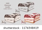 piece of salo isolated on the... | Shutterstock .eps vector #1176548419