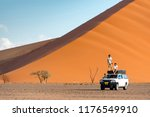 two asian man traveler and... | Shutterstock . vector #1176549910