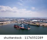 aerial view of logistics...   Shutterstock . vector #1176552289