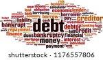debt word cloud concept. vector ... | Shutterstock .eps vector #1176557806