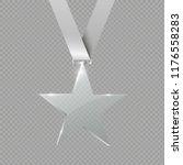 a glass star. reward. glass... | Shutterstock .eps vector #1176558283