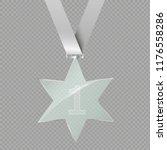a glass star. reward. glass... | Shutterstock .eps vector #1176558286