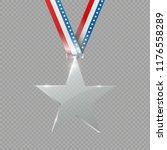 a glass star. reward. glass... | Shutterstock .eps vector #1176558289
