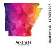 abstract polygon map   vector... | Shutterstock .eps vector #1176559309