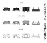 vector design of train and... | Shutterstock .eps vector #1176561376