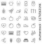 thin line vector icon set  ... | Shutterstock .eps vector #1176563146