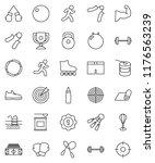 thin line vector icon set  ... | Shutterstock .eps vector #1176563239