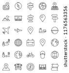 thin line vector icon set  ... | Shutterstock .eps vector #1176563356
