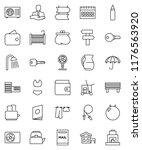thin line vector icon set  ... | Shutterstock .eps vector #1176563920