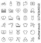 thin line vector icon set  ... | Shutterstock .eps vector #1176564010