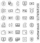 thin line vector icon set  ... | Shutterstock .eps vector #1176565153