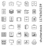thin line vector icon set  ... | Shutterstock .eps vector #1176565159