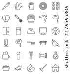 thin line vector icon set  ... | Shutterstock .eps vector #1176565306