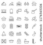 thin line vector icon set  ... | Shutterstock .eps vector #1176565336