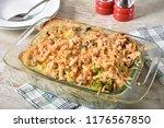 gourmet homemade green bean and ... | Shutterstock . vector #1176567850