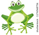 cute green frog character... | Shutterstock .eps vector #1176568756