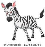 cute zebra white background... | Shutterstock .eps vector #1176568759