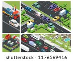 isometric urban traffic... | Shutterstock .eps vector #1176569416