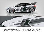 car wrap.  modern racing car... | Shutterstock .eps vector #1176570736
