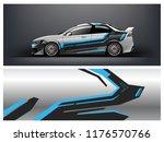 car wrap.  modern racing car... | Shutterstock .eps vector #1176570766
