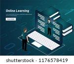 responsive landing page design...   Shutterstock .eps vector #1176578419