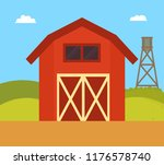 farm house and nature landscape.... | Shutterstock .eps vector #1176578740