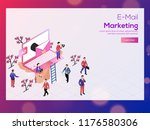 e mail marketing concept based... | Shutterstock .eps vector #1176580306