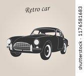 vintage car. retro car. classic ... | Shutterstock .eps vector #1176581683