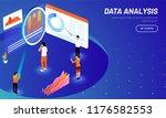 data analysis concept based web ... | Shutterstock .eps vector #1176582553