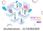 isometric design for virtual co ... | Shutterstock .eps vector #1176583369