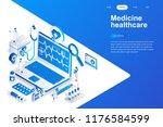 medicine and healthcare modern... | Shutterstock .eps vector #1176584599