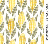 Corn Cob Maize Seamless...