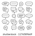 thin line speech bubble icons.... | Shutterstock .eps vector #1176589669