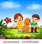 the children are playing with... | Shutterstock . vector #1176591463