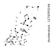 musical signs. modern... | Shutterstock .eps vector #1176593146