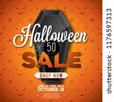 halloween sale vector... | Shutterstock .eps vector #1176597313